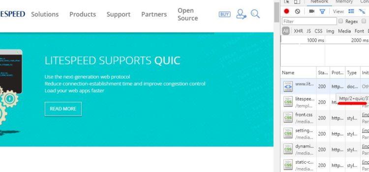 LiteSpeed5.2版正式支持QUIC連接